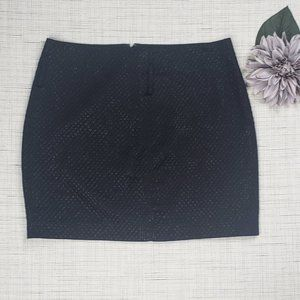 BCBGMaxAzria Black Shimmer Diamond Mini Skirt 12